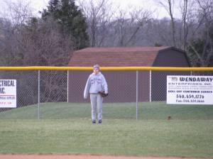 Left field is in good hands!