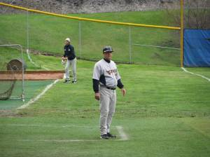 Ness coaching from the 3RD base box.