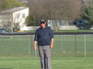Mr. Bob Stevens working the bases.