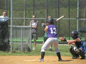 Bethany Fauber at the plate.