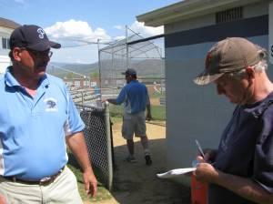 PN & C's Bill Meade interviewing Head Coach Alan Knight