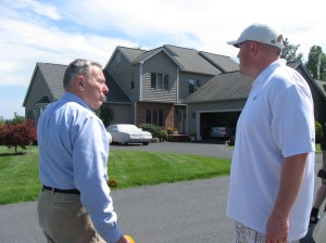 We were talking Generals Baseball to the golf course residents. He was thankful that none of hit his home!