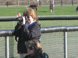 Sonya taking pics for The Free Press