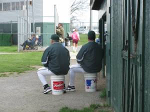 Coach Mac and Coach Cullen leading the Green Hornets