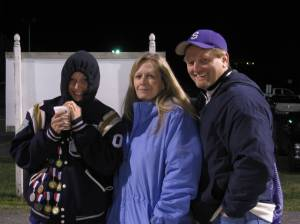 Mom, Dad & Bethany Doman late in the Strasburg night. One more congrats to Bethany for making the East-West Volleyball game