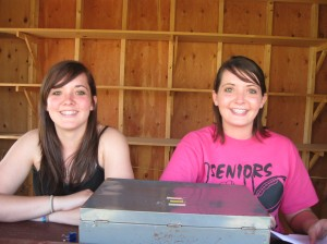 The smiling faces working the ticket booth.