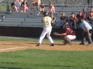 Ryan Sheridan at the plate.