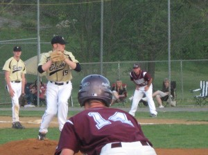 Luray's Will Logan leading off third base.