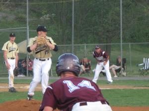 Luray's Will Logan leading off third base.
