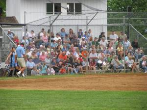 Great crowd turned out to support the home team.