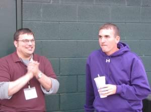 The NVD's Chuck McGill & Strasburg's AD Matt Hiserman at the game.