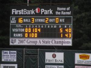 Red Pride played small ball in the fifth inning and it paid off.
