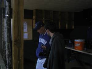Head Coach Jeff Smoot & Shenandoah Valley Herald's John Galle. Maybe Rebecca can fix the lighting on this one?
