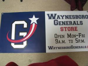 The banner for the Generals Exchange #2 Located @ Augusta Free Press