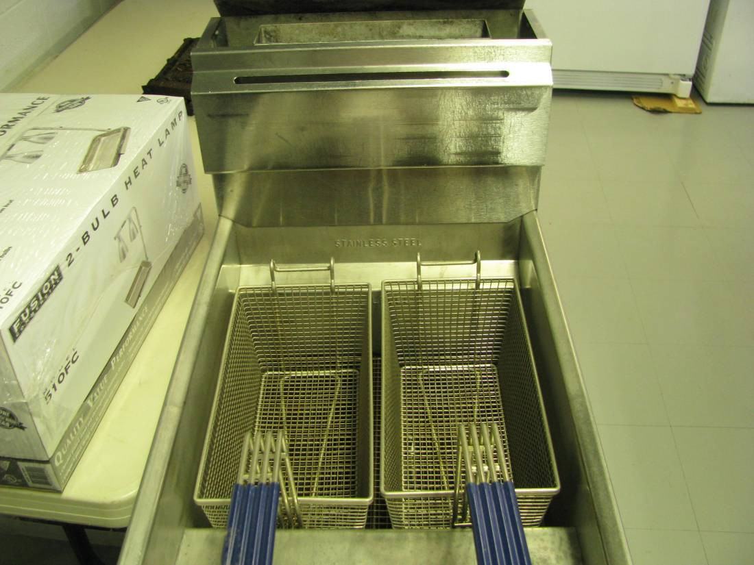 The Generals Canteen New Deep Fryer ! We will be selling Hatfield Fries this season.