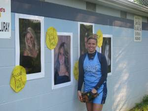 Senior pics lined the back of the dugout of the Panthers.