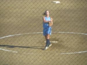 Kristy McDaniel on the Mound.