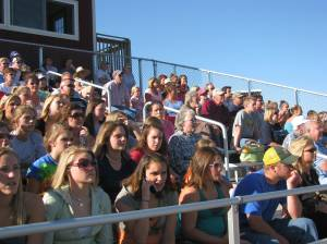 Great crowd @ Bridgewater College for the game.