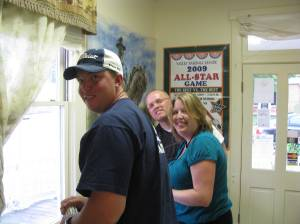 Check out the friendly staff. Kurt Davidson, Crystal Graham & Chris Graham.
