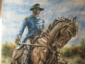 Check out the Life Size Painting of General Mad Anthony Wayne