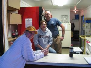The smiling trio that worked the Snack Bar @ Bulldog Field.