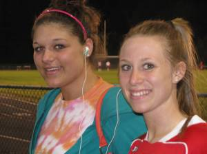 SJHS's Heather Stout and Meghan Dellinger at the Soccer game