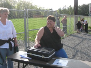 This young lady was working the ticket table.