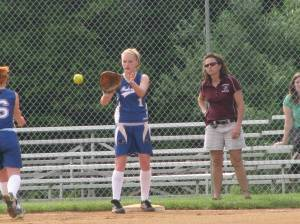 Making the play at 1ST - Taylor Cooper from Michaela Fleming
