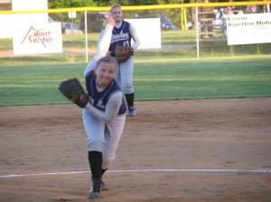 Senior Lauren Stickles on the mound