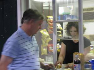 Is that Mr. Bill Meade looking for a late night snack ?