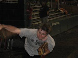 An action shot of young Cory Ramsey, son of Keith.