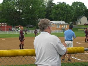 Our buddy Bill Meade working the game for the PN & C