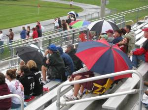 Kudo's to the Dedicated Fans that didn't let the rain keep them away!