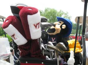 Hokie Head Covers mixed in with Cav Man. What is the world coming to?