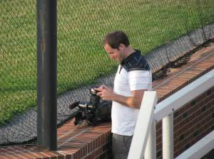 TV-3's Damon Dillman at work