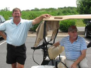 Coach Alan Knight (L) and Bill Meade after the tourney. Coach fired a 38 on the back nine to capture 1ST place!