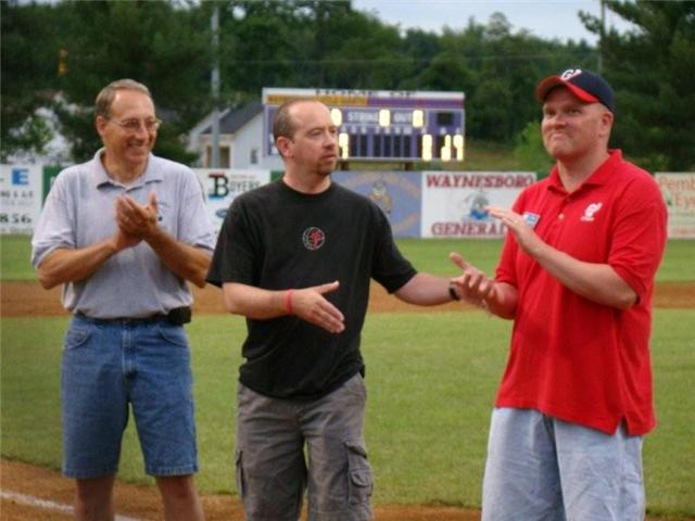 Bruce Alger, Jeff Burner & Chris Graham during the Burner Ceremony
