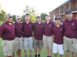 LHS Golf - Asst. Ryan Carroll (left) and Head Coach Chris Mercer