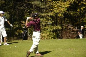 Noser on the tee box.