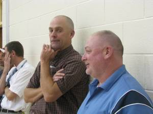 Hard working AD's Don Ehlers (L) and Keith Cubbage (PC)